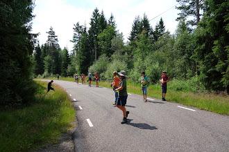 Photo: Og inde i skoven lå Svend klar med vand!