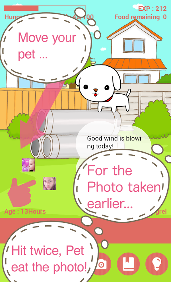 CameraPet - cute camera game- screenshot