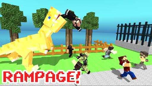 Blocky Dino Park: T-Rex Rampage apk mod capturas de pantalla 2