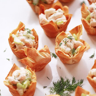 Shrimp Salad Phyllo Bites.