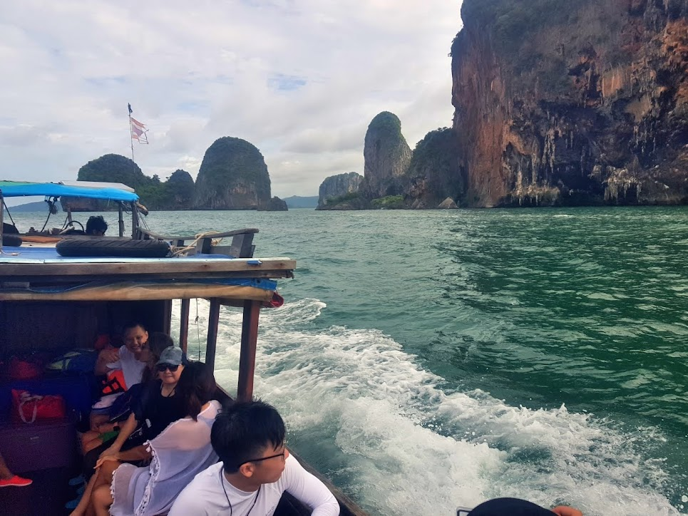 4 Islands tour by private long-tail boat from Ao Nang - Koh Poda (Poda Island), Koh Gai (Chicken Island), Koh Tup and Koh Mor (Tup Island) and Phra Nang Beach on Railay Peninsula