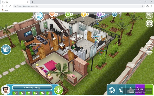 The Sims FreePlay New Tab Theme