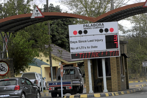 An electronic sign at Palabora Mining Company indicating that it has been three days since the last injury at the mine.