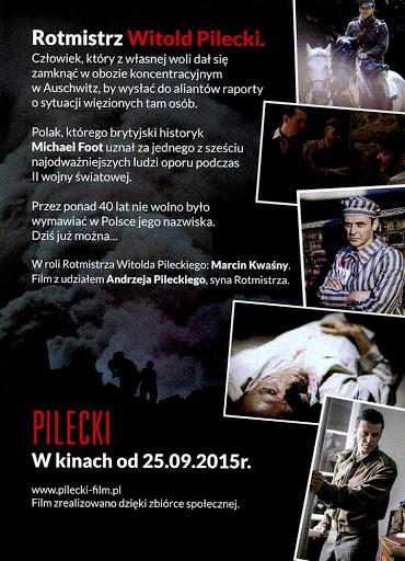Tył ulotki filmu 'Pilecki'