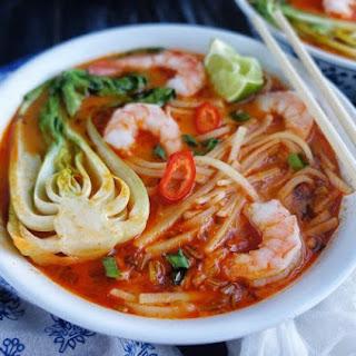 Thai Noodle Soup with Shrimp.