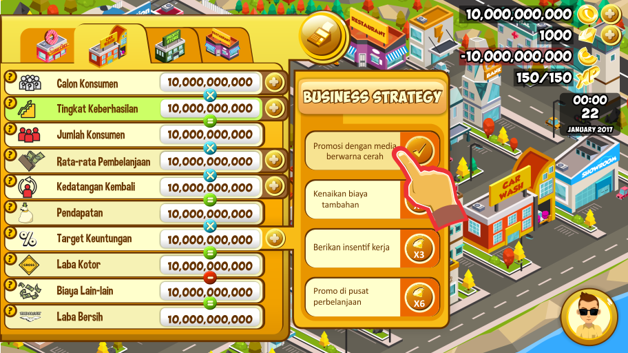 The PROFIT- screenshot