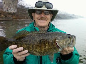 Photo: Jan. 7, 2012 - It was a stellar day for Sam Simons and client, Richard Tatum, who also caught a personal best 22-inch smallmouth.