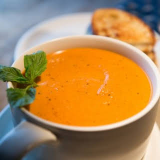 Homemade Roasted Tomato Soup.