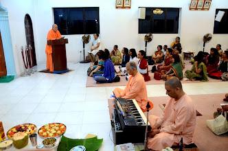 Photo: Swami Satyalokananda speaking on Buddha