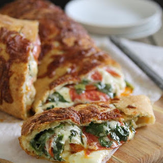 Spinach, Cheese And Pepperoni Stuffed Bread.