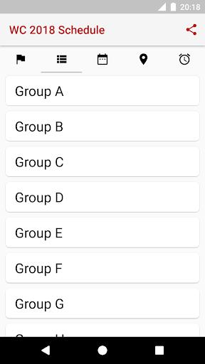 ud83cudfc6World Cup 2018 Schedule 2018.1.17 screenshots 4