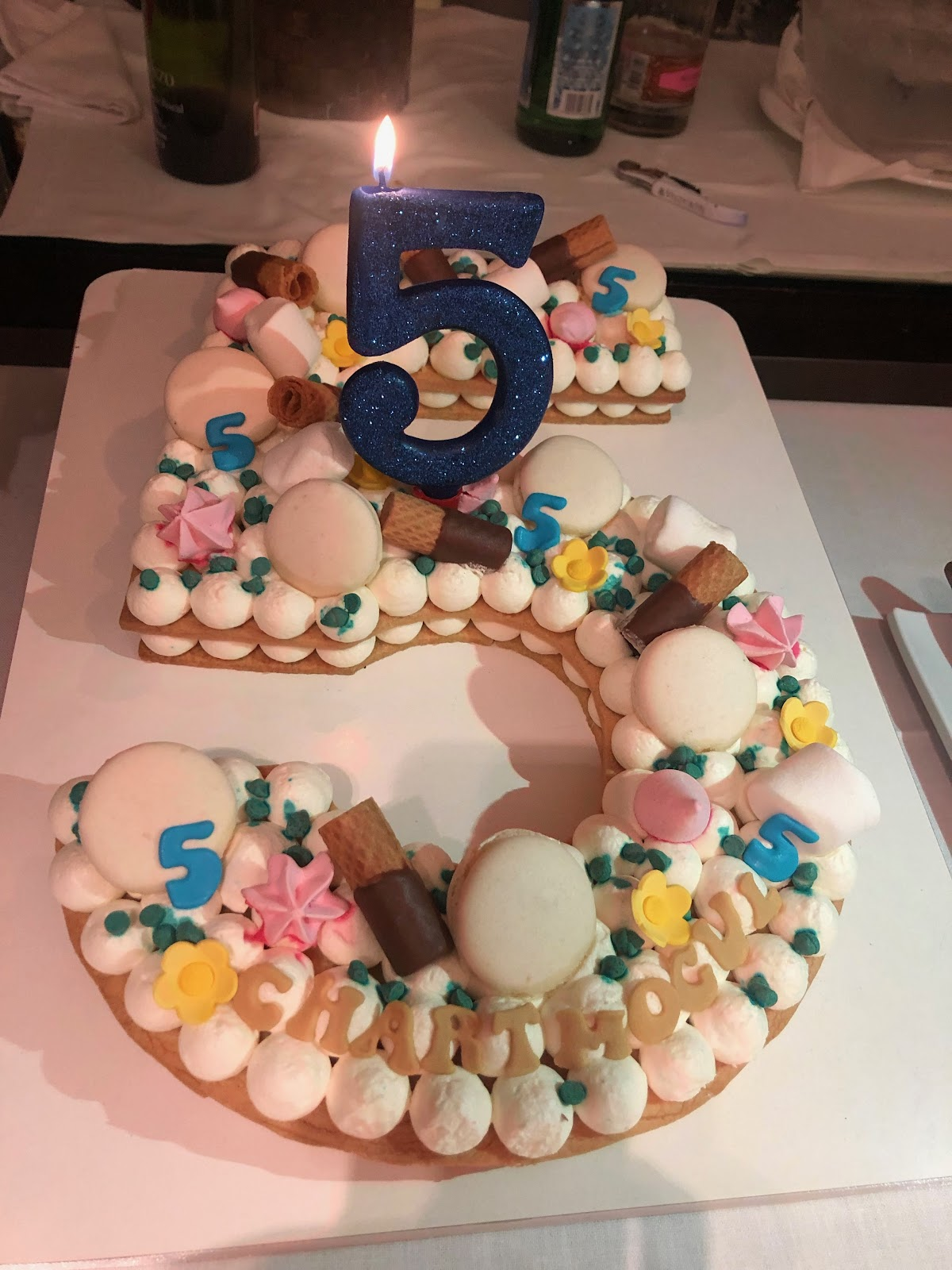 The cake for ChartMogul's 5th birthday