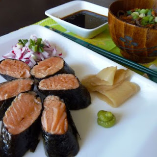 Salmon Roll With Soba.