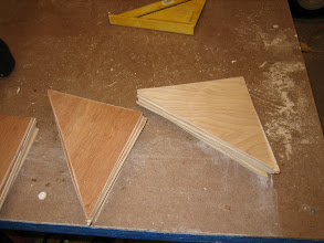 Photo: Making gussets from scrap