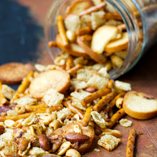Sweet and Spicy Sesame Snack Mix.