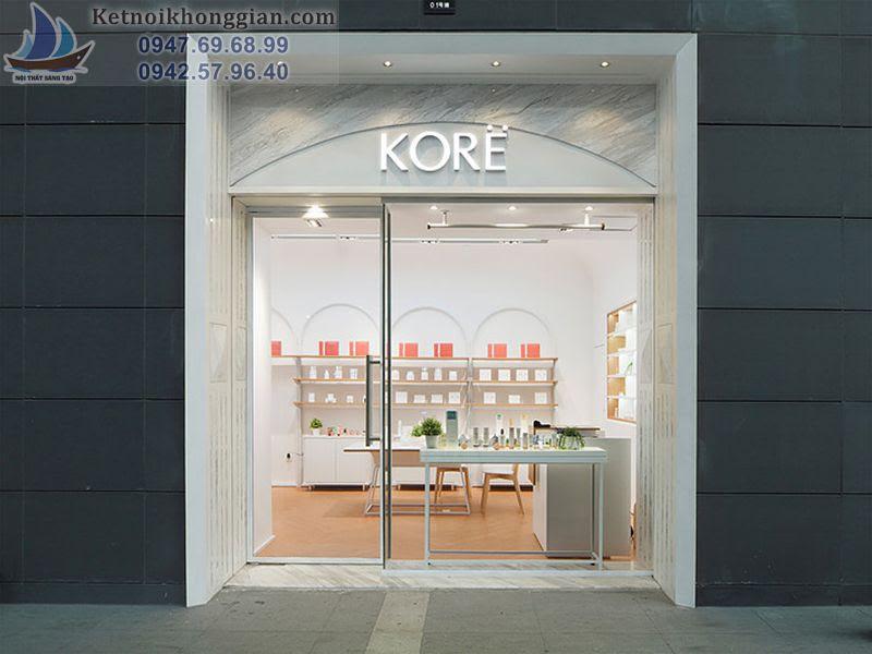 thiết kế shop mỹ phẩm Kore
