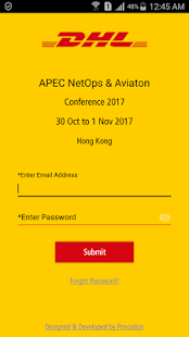 DHL Express Conf App - náhled