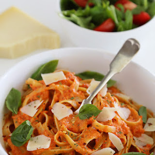 Creamy Roasted Red Pepper Pasta.