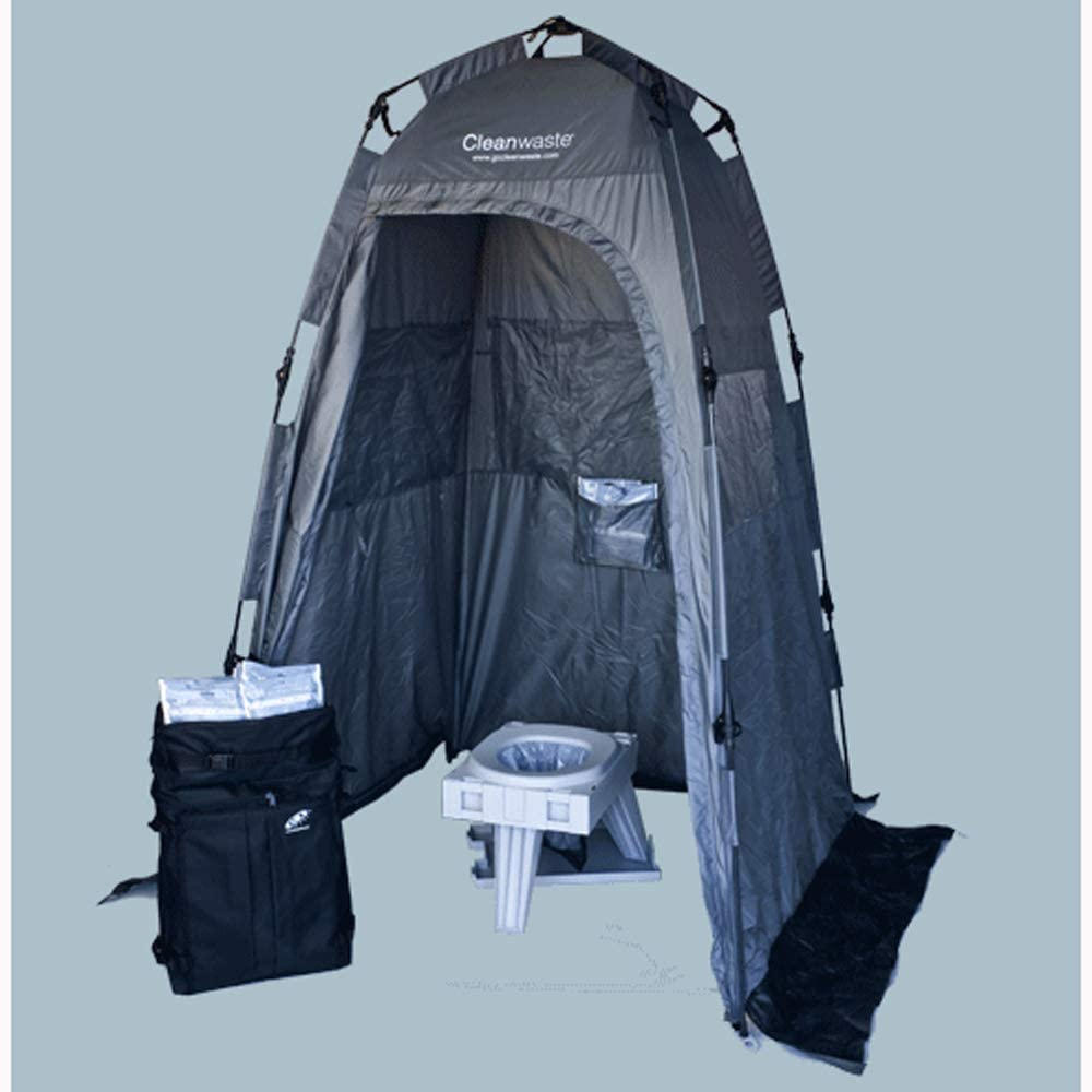 cleanwaste go anywhere complete toilet system includes privacy tent