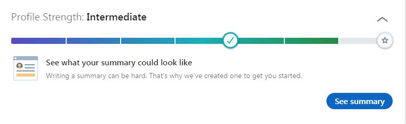 LinkedIn uses Progress Bar while onboarding users