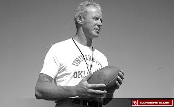 Photo: The iconic image of Oklahoma head coach Bud Wilkinson.
