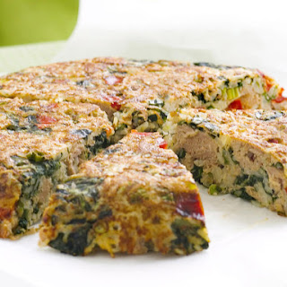 Spanish Tortilla with Spinach, Tuna and Rice