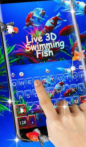 Live 3D Swimming Fish Keyboard Theme 6.5.22 screenshots 2