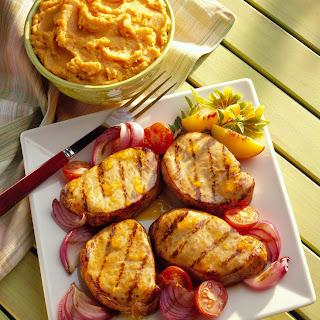 Peachy Mustard Pork Chops Recipe