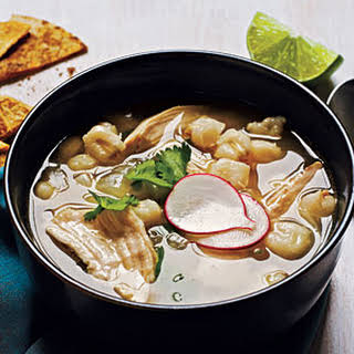 Mexican Chicken-Hominy Soup.
