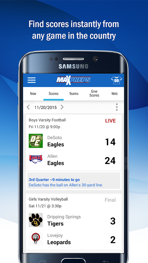 MaxPreps- screenshot