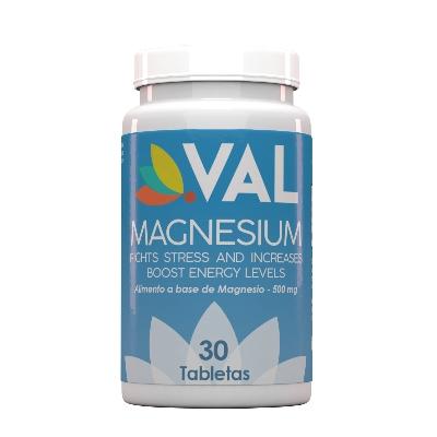 magnesio val 500 mg 30 tabletas