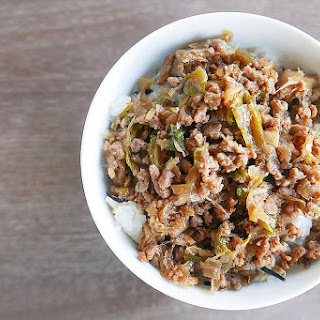 Quick Ground Beef in Rice Bowl Recipe