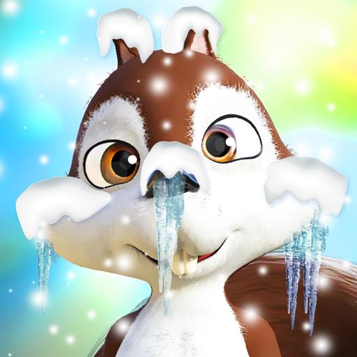 Talking Squirrel Frozen Forest Icon