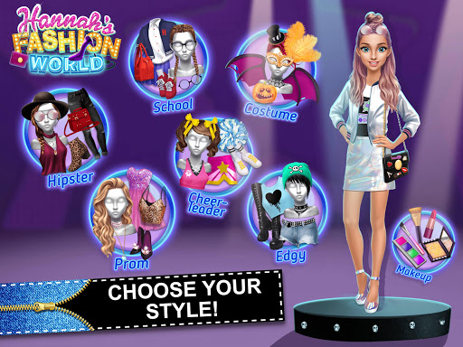 Hannahu2019s Fashion World - Dress Up & Makeup Salon  screenshots 9
