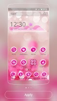 Pink bubble theme - screenshot thumbnail 01