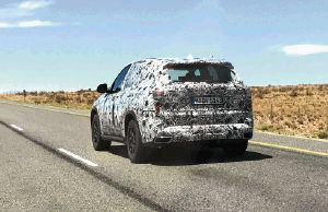One of a whole fleet of BMW X7s being put through their paces.   Picture: GERT VAN ROOYEN
