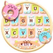 Colorful Donuts Button Keyboard Theme