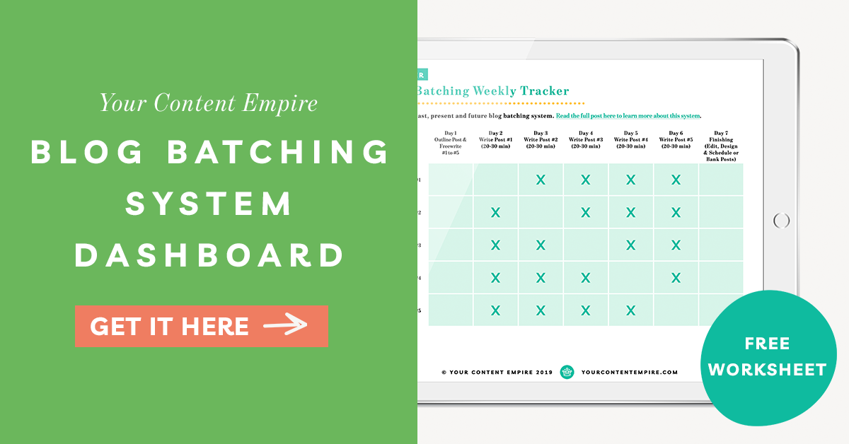 Freebie | Blog Batching System Dashboard