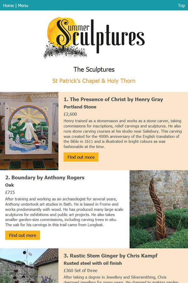 Summer Sculptures at Glastonbury Abbey- screenshot