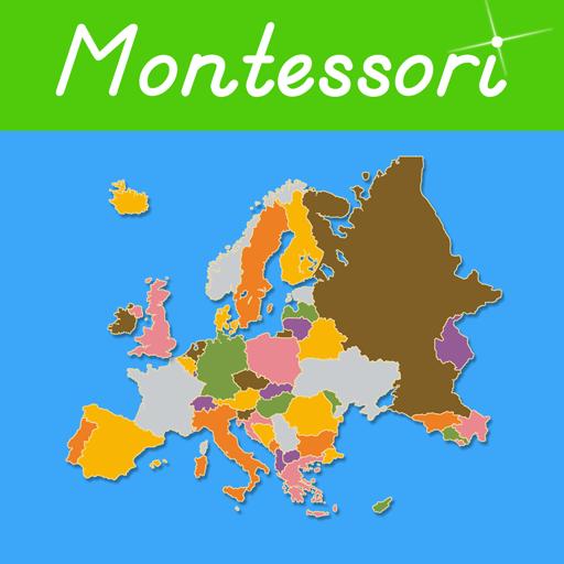 Europe - Montessori Puzzle Map