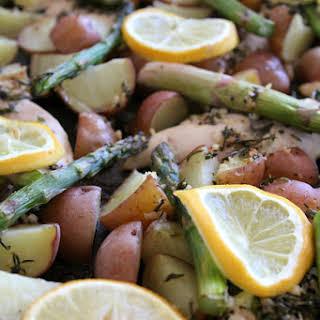 Sheet Pan Lemon Rosemary Chicken and Veggies.