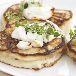 Goat Cheese Mini Pancakes.
