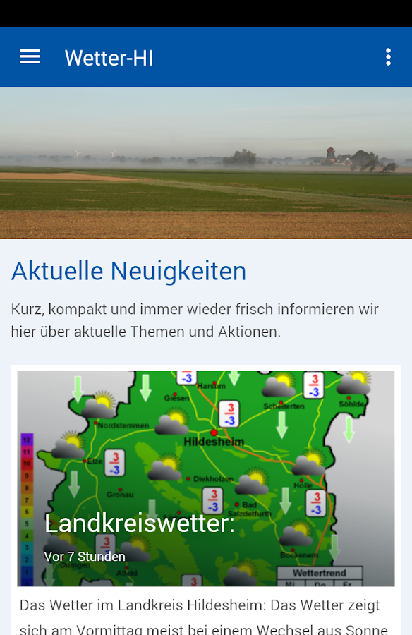 Wetter-Hildesheim- screenshot