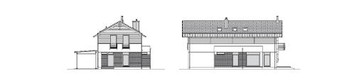 Współczesny 2 - Elewacja przednia i boczna