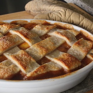 Lattice Top Peach Cobbler