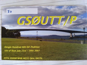 Photo: A QSL card from a previous year