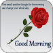 Good morning messages and flower rose pictures GIF - Androidアプリ