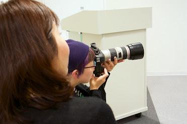 眼鏡のカメラマンさんとライターさん