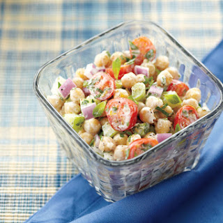 Chickpea Salad with Lemon Yogurt Dressing Recipe