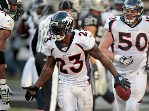 Photo: McGahee scored twice on the day to go with 163 rushing yards. Photo by Eric Lars Bakke / Denver Broncos